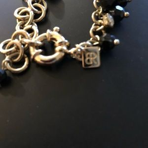 Banana Republic Jewelry - Black and gold BR necklace